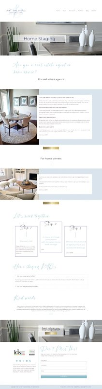 JTTD Home Staging Services Page