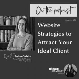 Robyn White of RDW Design Studio guest on Sassy Strategist Podcast