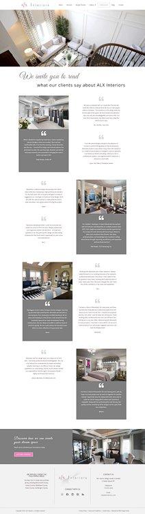 ALX Interiors Testimonials Page